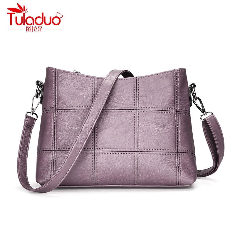 High Quality PU Leather Women Crossbody Bags Fashion Piaid Women Shoulder Bag Black Large Capacity Women's Handbags bolsa mujer
