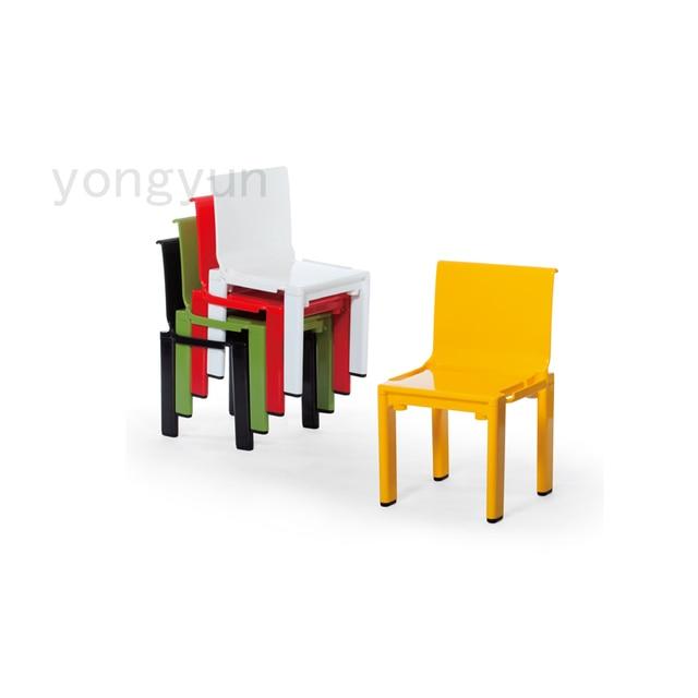 Minimalist Modern Children Furniture School Kids Chair Baby Plastic Stackable Dining
