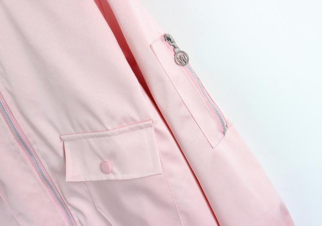 a2706c198 Pink Bomber Jacket Women Korean Style Batwing Sleeve Stand Collar Baseball  Jacket Free Shipping