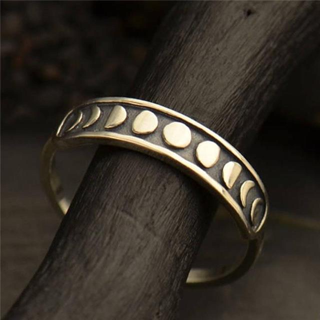 Женские винтажные богемные кольца серебряного цвета с Луной