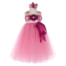 Flower Girls Princess Dress for Girls Kids Ankle Length Big Bow Tutu Dress Children Sleeveless Halloween Party Dress Ball Gown jeremiah flowers girls dress white sleeveless bow cute girls dress party dress for kids girls tutu wedding dress for girls