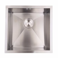 45cm X 45cm 304 Stainless Steel Kitchen Sink Laundry Single Square Sink