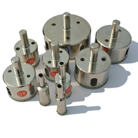 4 20mm 10PCS SET Electroplate Diamond Cutter Hole Saw For Glass Marble Tile Granite Drill Bits