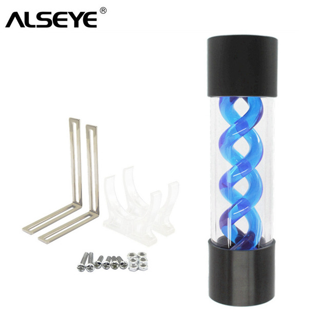 ALSEYE Water Cooler Tank 200mm G1/4 T-virus DIY Water Cooling Reservoir for Gaming PC Cooling System