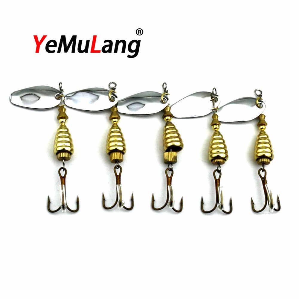 BB755 Спиннер приманка металлическая искусственная рыболовная приманка пропеллер жесткие приманки с 6 # крючок форель карп