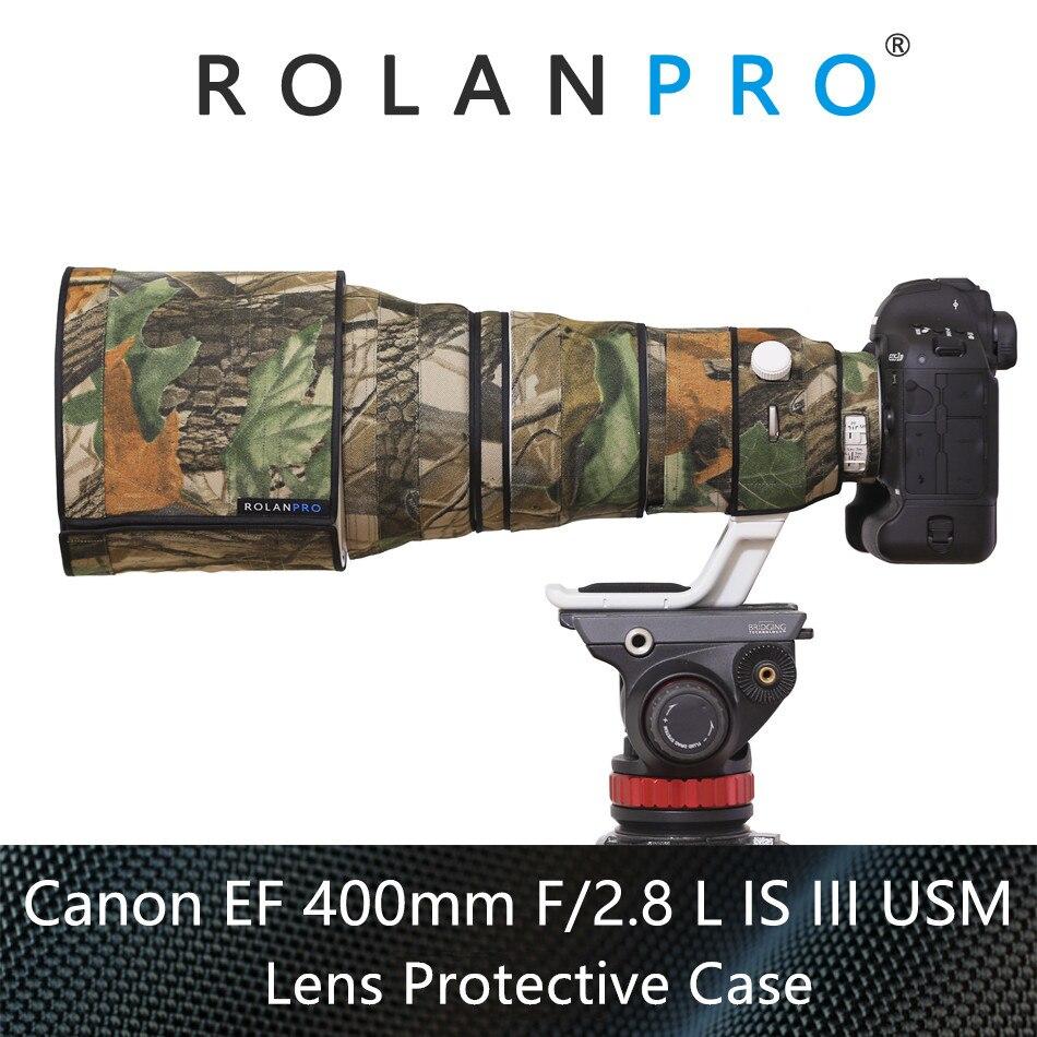 ROLANPRO Waterdichte Lens Camouflage Regenhoes Voor Canon EF 400mm F/2.8 L IS III Usm Lens beschermhoes Guns Doek-in Camera-/Videotassen van Consumentenelektronica op  Groep 1