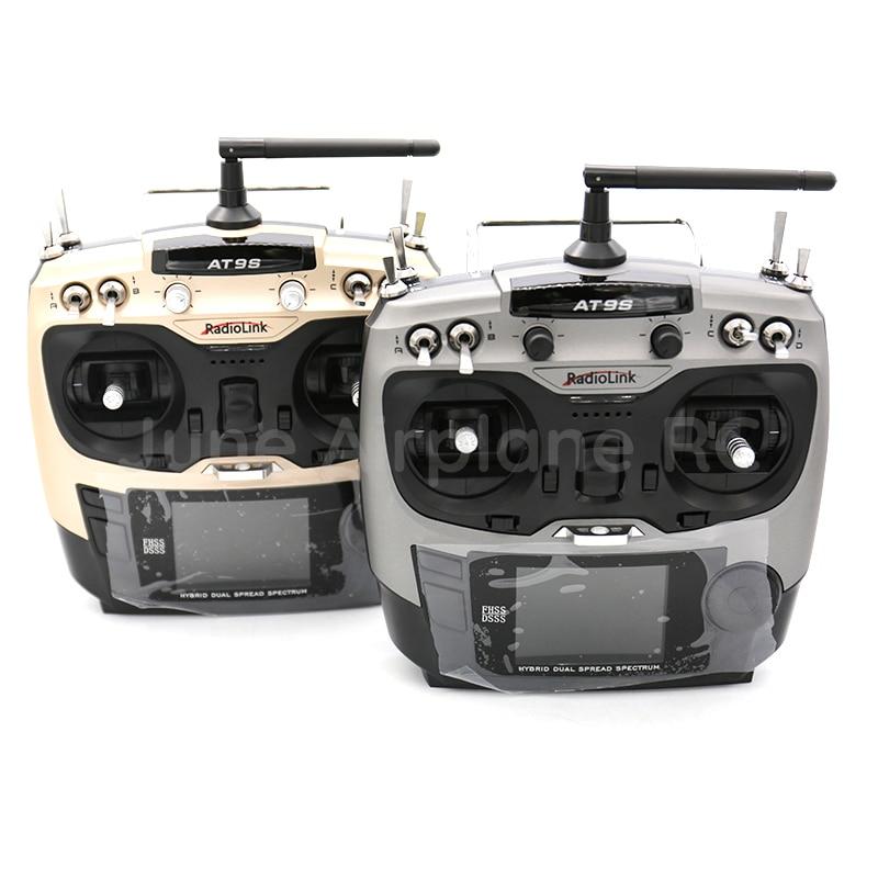 Radiolink AT9S 2.4G 9CH System nadajnik z R9DS odbiornik AT9 pilot zdalnego sterowania aktualizacja wizję RC quadcopter helikopter w Części i akcesoria od Zabawki i hobby na  Grupa 1