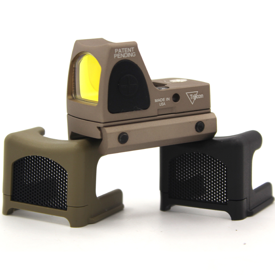For Trijicon Mini RMR Reflex Optics Red Dot Sight Scope Cover Anti-Reflection Alu Kill Flash Hunting BK/TAN