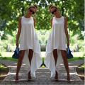 Summer dress 2015 irregular women  vestido de festa casual sundress women dress  plus size women clothing beach dress chiffon
