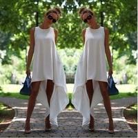 Summer dress 2015 irregular women vestido de festa casual sundress women dress plus size women clothing beach dress chiffon