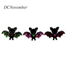 New Arrival Halloween Bat Brooches Women Men Acrylic Animal Bat Brooch Pin Handmade Jewelry new fashion jewelry baseball bat