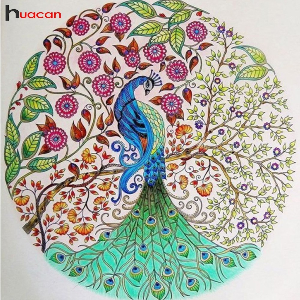 HUACAN 5d Diamond Embroidery Animals Diy Diamond Painting Cross Stitch Peacock Picture Of Rhinestones Mosaic Garden DecorationHUACAN 5d Diamond Embroidery Animals Diy Diamond Painting Cross Stitch Peacock Picture Of Rhinestones Mosaic Garden Decoration
