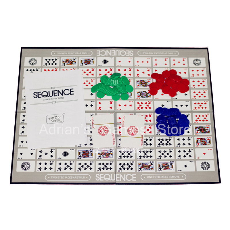 Sequence Games Children Challenging Sequence Board Game 104 Cards 2