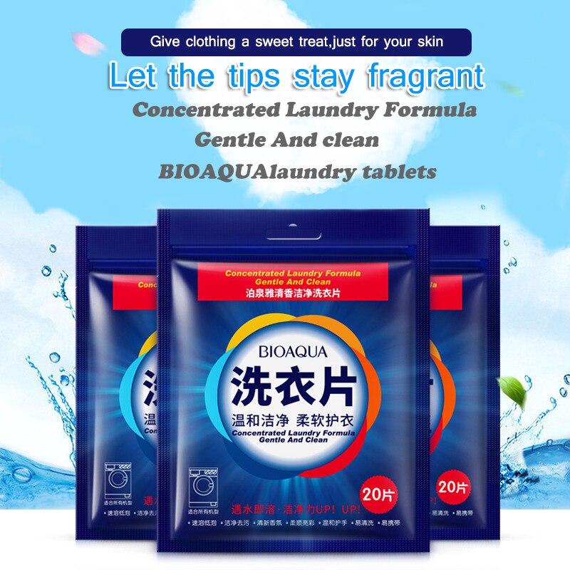 20 pçs eficiente detergente lavagem em pó concentrado liquido para lavar ropa multifuncional lavanderia tablet viagem pó de lavanderia