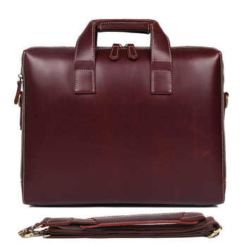 Brand New Simple Fashion Business Briefcase 15 Inch Computer Bag Cow Skin Men's Handbag Lawyer Briefcase - DISCOUNT ITEM  40% OFF All Category