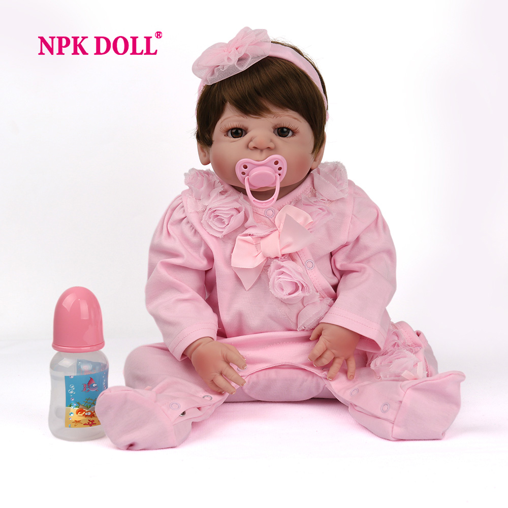 NPKDOLL 55 cm muñecas de bebé reborn silicona niñas juguetes realista bebé muñecas juguetes para niños Envío Directo-in Muñecas from Juguetes y pasatiempos on AliExpress - 11.11_Double 11_Singles' Day 1