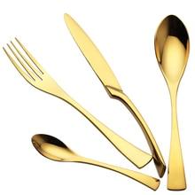 4 Teile/los 18/10 Edelstahl Gold Besteck Abendessen Gabeln Messer Kugeln Set Geschirr Set hochzeit Besteck-set