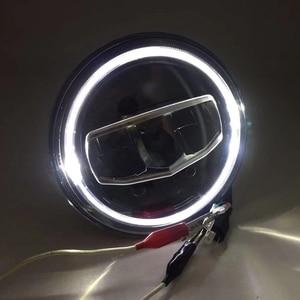 Image 3 - New Car LED 7 Inch Round Headlight DRL Turn Signal Halo Headlights For Jeep Wrangler JK TJ CJ Hummer Lada Niva 4X4 Headlamps