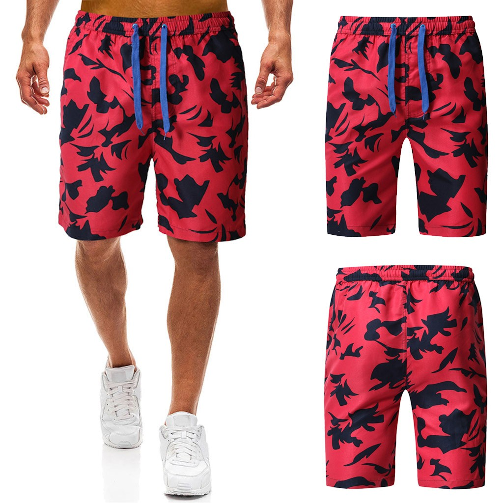 2019 Men's summer camouflage ethnic style printed trunk quick-drying beach surf running shorts 7.12(China)