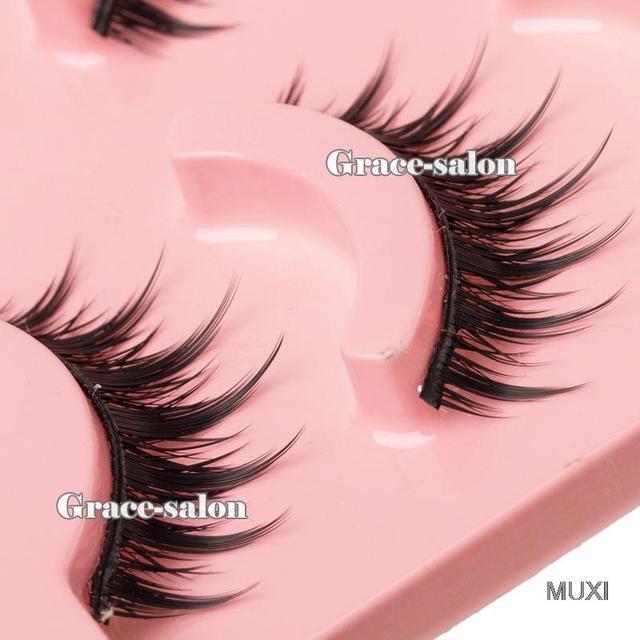 Acrylic Series Fashion Makeup Natural False Eye Lashes Long Thick Eyelashes Long