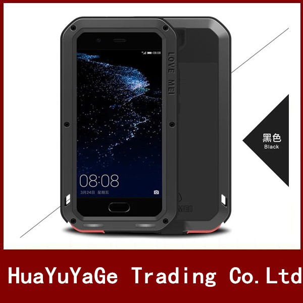 LOVE MEI Powerful Metal Case Luxury Aluminum Dirt Waterproof Shockproof Cover Anti Knock Case For Huawei