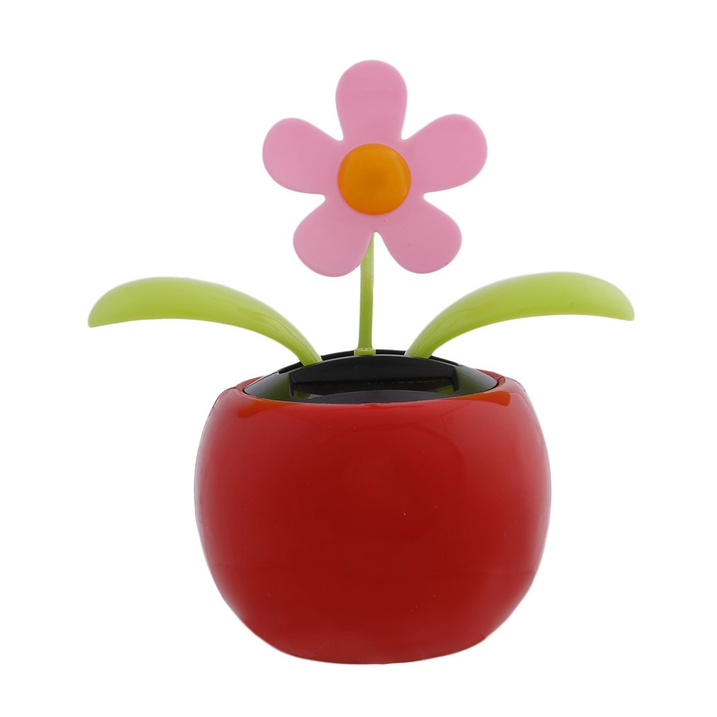 Solar Energy Apple Sunflower Leaves Dancing Automotive Interior Accessories  Doll Ornaments Car Decoration car-styling