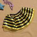 Бесплатная доставка; юбка с изображением пчелы и пчелы в желтую и черную полоску; праздничный костюм на Хэллоуин; юбка-пачка