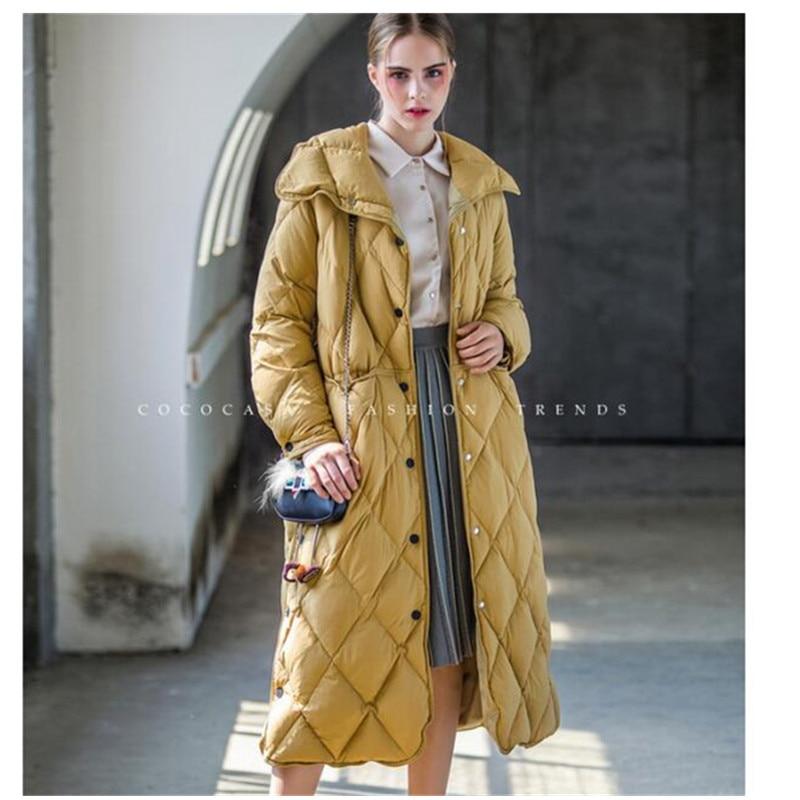 Vestes Avec Mode Haute Nouvelle Femmes 2017 Col Montant Le Canard khaki Bas Femelle Long Down Manteau Black Pq121 Qualité D'hiver red Chaud Europe Vers E08CCxnUq