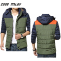 ZOOB MILEY Winter Jacket Men Warm Fashion Hooded Outerwear Long Sleeve Causal Mens Contrast Color Jackets Plus Size M-2XL