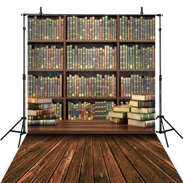 Vintage Wooden Photography Backdrop Vinyl For Bookshelf Backgrounds Photo Studio Foto Fotografica