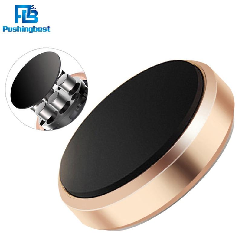 Pushingbest universal car phone holder multi functional chip car holder mobile phone navigation bracket Strong magnet