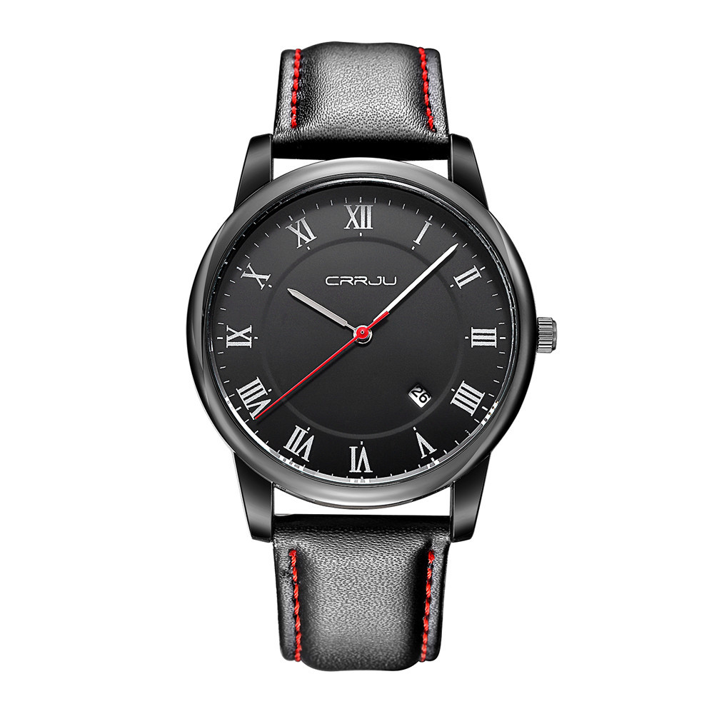100pcs lot 2016 New Quartz Watch Men CRRJU Top Brand Luxury Famous Wristwatches Male Clock Wrist