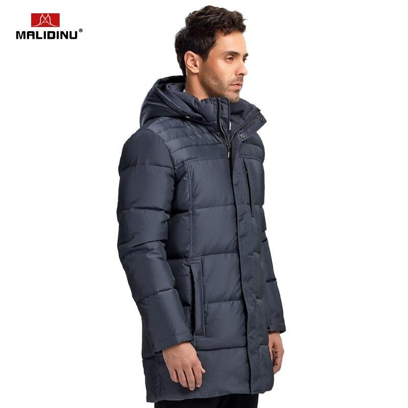 MALIDINU 2019 nouveaux hommes duvet de canard veste d'hiver épais Long manteau marque européenne taille hommes duvet manteau Parka livraison gratuite - 4