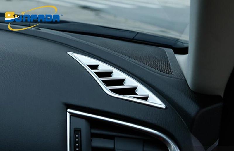 Sunfada Chrome/углерода Волокно вентиляционное отверстие розетки подкладке Рамки Обложка отделка украшения для Mazda 6 Atenza 2013- стайлинга автомобилей