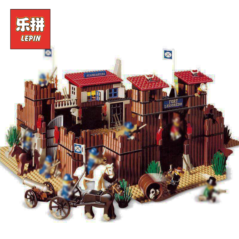 Lepin Creative Building Blocks Bricks 6769 The Idian Cowboy's Castle Set Educational Children Toys Christmas Gift lepin 33001 lepin 21012 builder the beatles yellow submarine with 21306 building blocks bricks policeman toys children educational gift toys