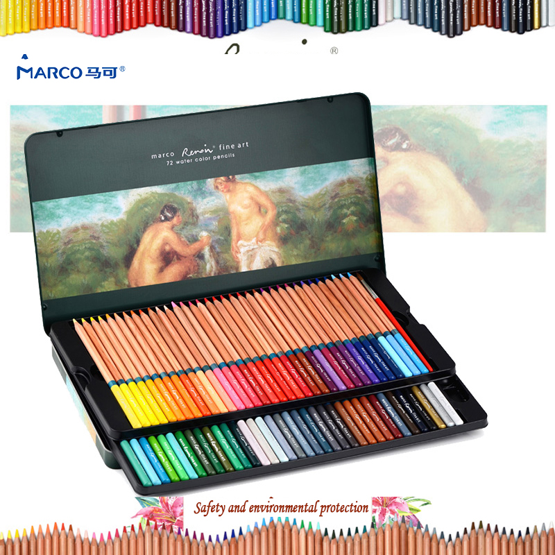 Marco 24/36/48 / 72Colors Raffine Fine Art Sketches Farbstifte Ungiftig Bleifreies Bleistift-Malstift-Set