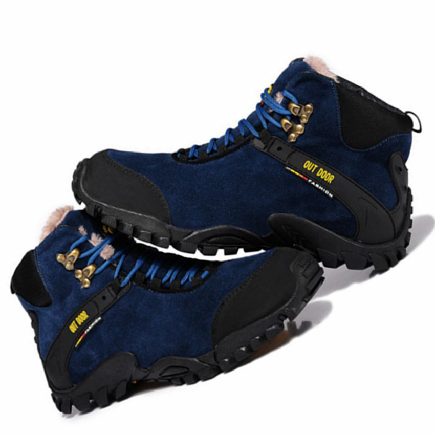 genuine leather Men Winter Snow Boots Running Shoes sneakers for Men Outdoor travel walking training Shoes running Sneakers Men women sneakers men running winter thermal shoes ultra light damping air sole walking outdoor training sports shoes plus 36 45
