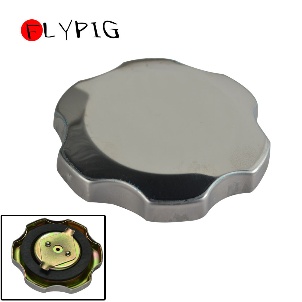Fuel Filter Chrome Gas Tank Cap For Honda GX240 GX270 GX340 GX390 8HP 11HP 13HP