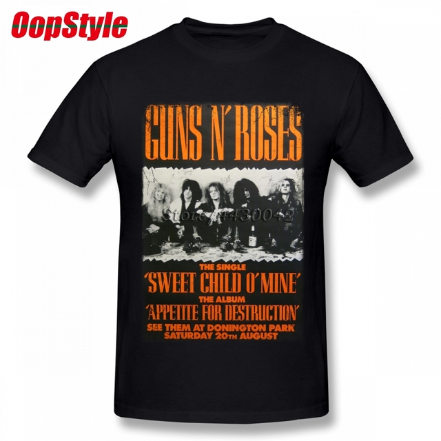 1b34b0febea Vintage Guns N Roses T-shirt For Men Short Sleeve Cotton Plus Size Custom  Tee