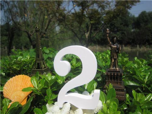 15cm Wood carving White Digital letters Number Wedding Birthday Home wedding decorations Artificial Woodenwood white numbers