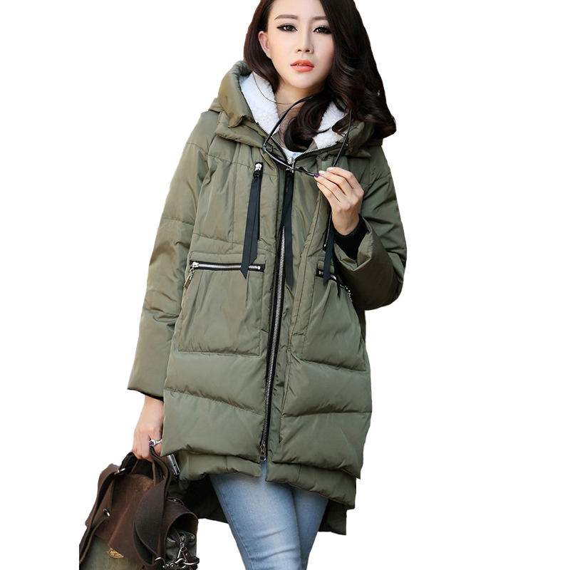 Long Style Hooded Cashmere Parka Winter Jackets Ladies 2018 Plus Size 4XL Fleece Women Winter Jackets