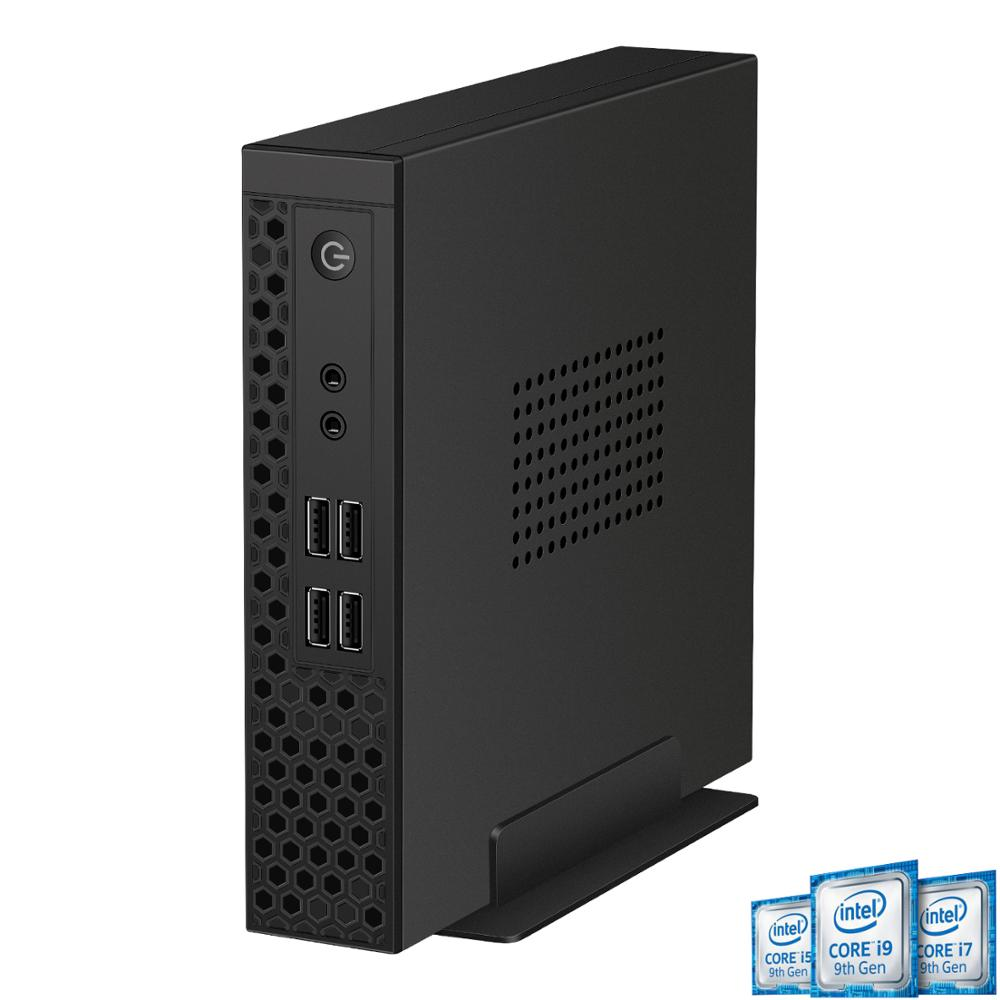 DDR4 mini pc de bureau niveau itx core i7 8700 i3 9100 i5 9400 i7 9700 althlon 200GE ryzen 2200 double ordinateur com mince clinet