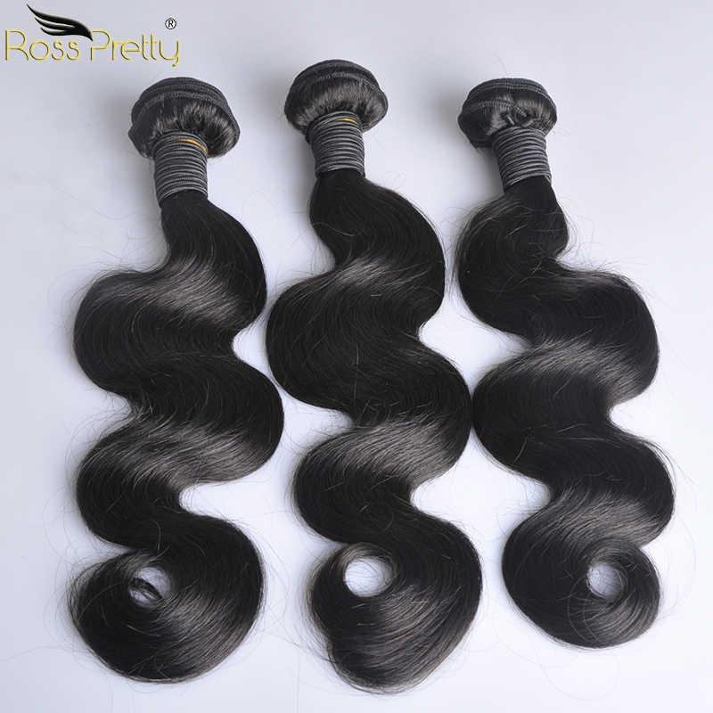 פרואני שיער גוף גל חבילות טבעי צבע 1b פרואני שיער טבעי Weave חבילות ללא רמי שיער הארכת 1/3/ 4 pc מכירה