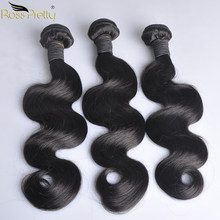 Peruvian Hair Body Wave Bundles Natural Color 1b Peruvian Human Hair Weave Bundles Non Remy Hair Extension 1/3/4 pc Sale(China)