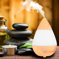 Bluetooth Version Aroma Essential Oil Diffuser Ultrasonic Air Humidifier With Wood Grain 16 Color Changing LED