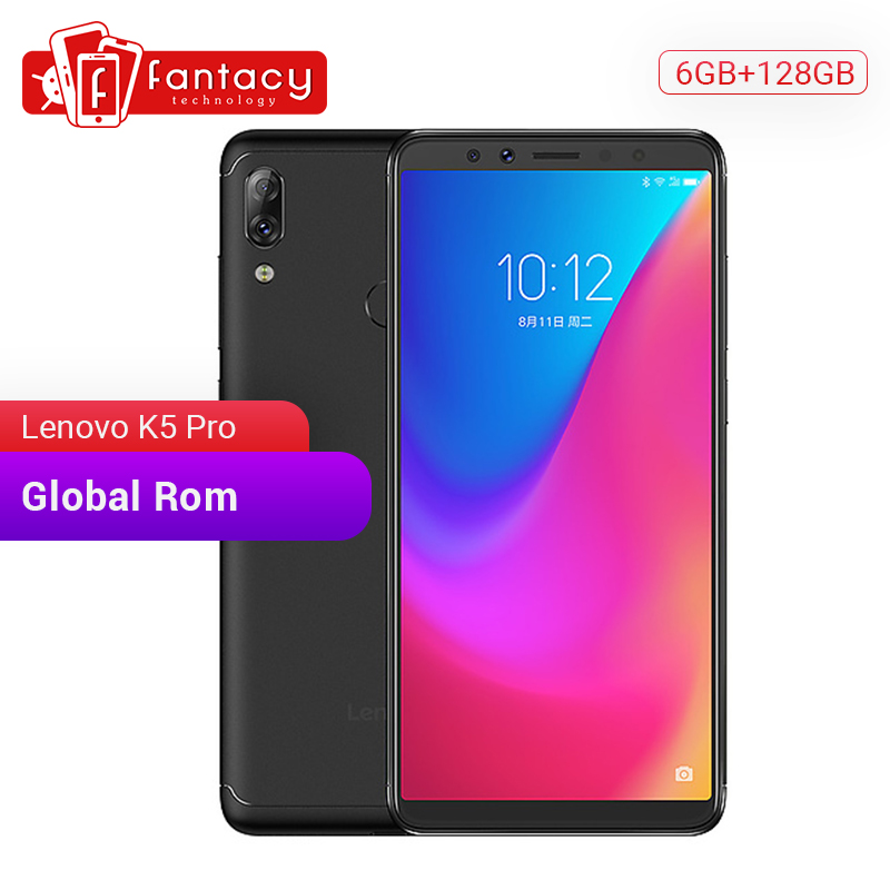 Global Rom Lenovo K5 Pro 6GB 128GB Snapdragon636 Octa Core Smartphone Quad Cameras 5.99 Inch Screen 4G LTE Phones 4050mAh