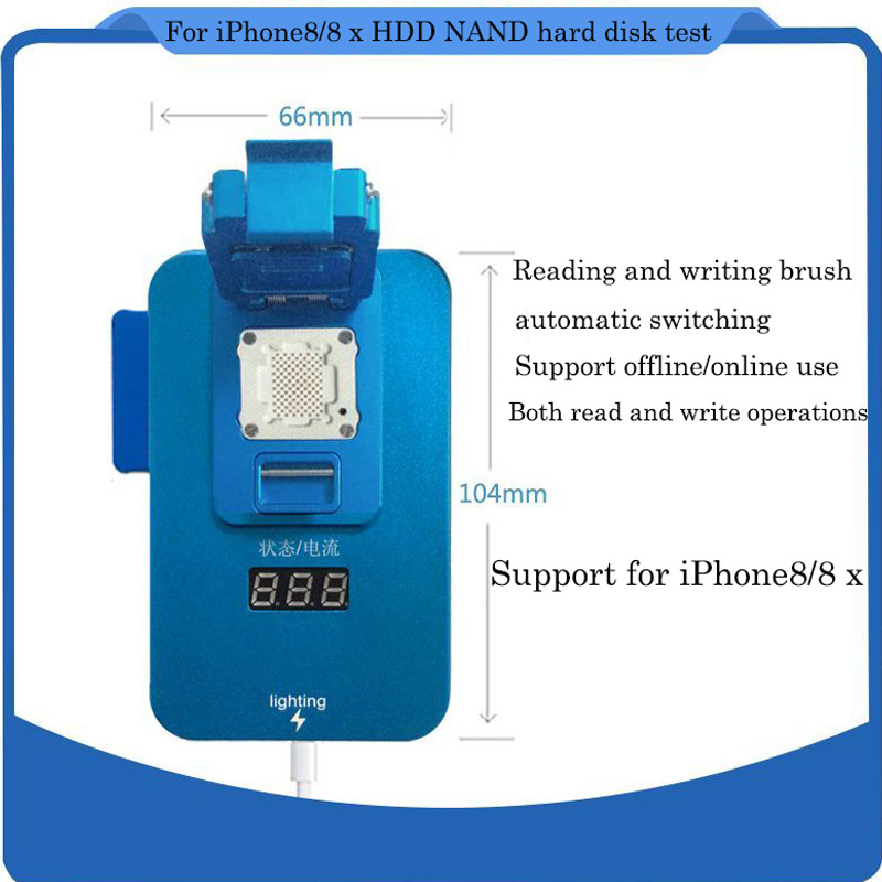 for iphone 8 8p IC Chip Programmer Machine Repair Mainboard Nand Flash Hard Disk HDD Serial Number SN 64 bit ic chip programmer machine repair mainboard nand flash hard disk hdd serial number sn for iphone 5s 6 plus ipad air 2 3