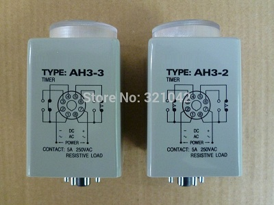 AH3-2 AC 220V 3s on-delay DPDT time relay AH3 series 220VAC delay timer стоимость
