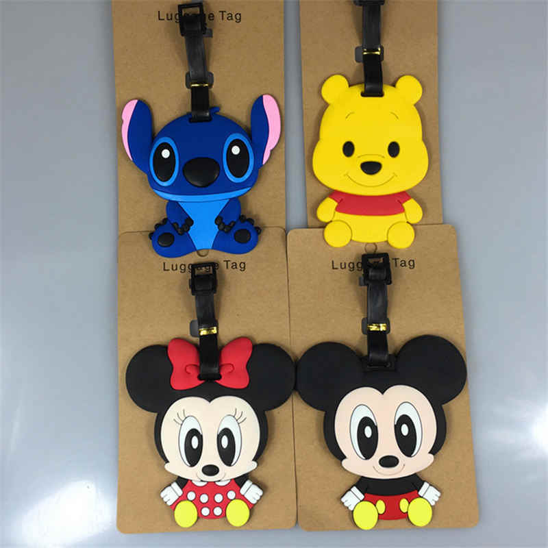 Disney Mickey Minnie Stitch Winnie de Pooh Daisy Bagagelabel Instapkaart Boarding Tags draagbare label