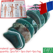 Good quality! WholesaleTraditional Acupuncture Massage Tool Guasha Board Natural Green Agate Stone big knife shape traditional acupuncture massage spa tool guasha board natural green agate stone fat u shape
